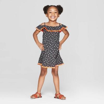Toddler Girls' 'Diamond' Shift Dress - art class™ Black