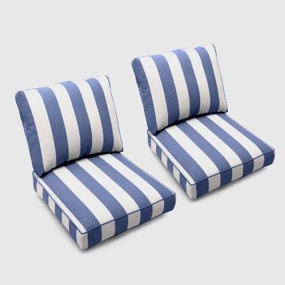 bar harbor 2pk cabana stripe club chair cushions navy threshold