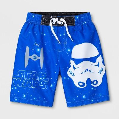 Boys' Star Wars Stormtrooper Swim Trunks - Blue