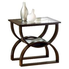 Steve Silver Dylan Sofa Table Metallic Gold Leather End Merlot Target