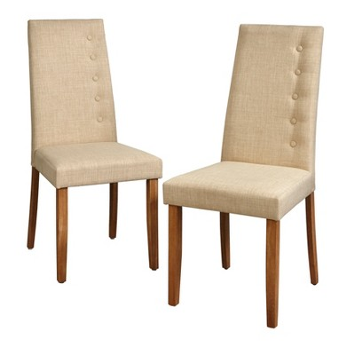 Set of 2 Carmen Dining Chairs Beige - Lifestorey