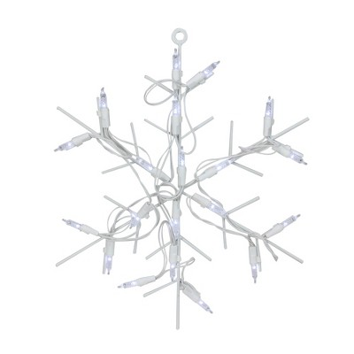 """Northlight 12"""" Battery Operated LED Lighted Snowflake Christmas Window Silhouette with Timer"""