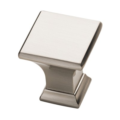 Square Cabinet Knob 2pk Satin Nickel - Threshold™