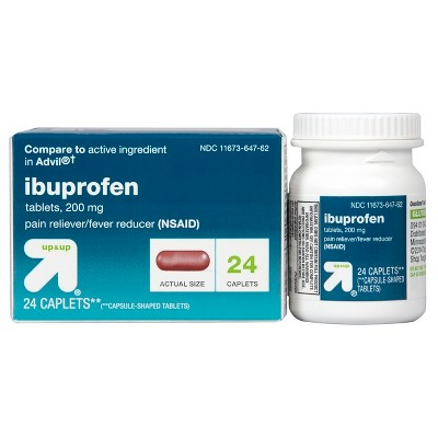 Ibuprofen (NSAID) Pain Reliever & Fever Reducer Caplets ...