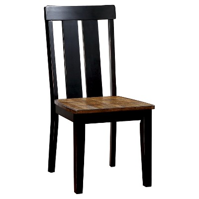 antique oak dining chairs patio chair cover sun pine carey plank style side and black set of 2