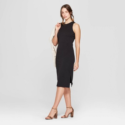 Women's Sleeveless Crewneck Knit Dress - A New Day™ Black