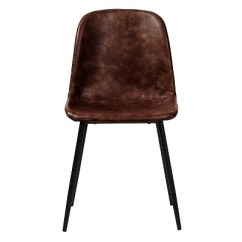 Leather Dining Chairs Stool Chair Lazada Max Modern Upholstered Faux Set Of 2 Aeon