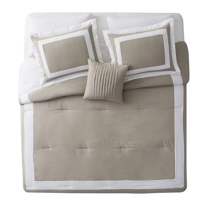 Taupe Avondale Comforter Set (Queen) - VCNY