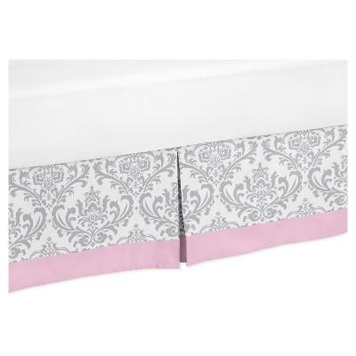 Pink & Gray Bed Skirt - Sweet Jojo Designs®