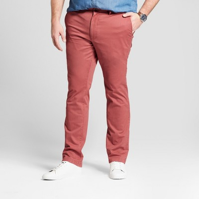 Men's Big & Tall Slim Fit Hennepin Chino Pants - Goodfellow & Co™ Dusty Red
