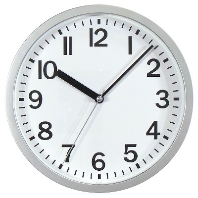 target clocks living room bow window treatment ideas 9 round wall clock essentials