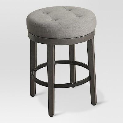 "Tufted Swivel 24"" Counter stool Gray - Threshold™"