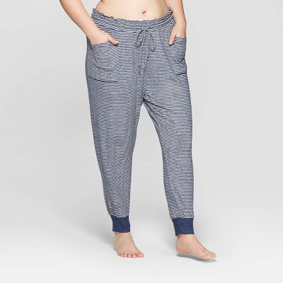 Women's Striped Plus Size Perfectly Cozy Lounge Jogger Pants - Stars Above™ Navy