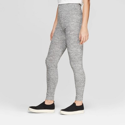 Women's Cozy Wide Waistband Leggings - A New Day™ Heather Gray