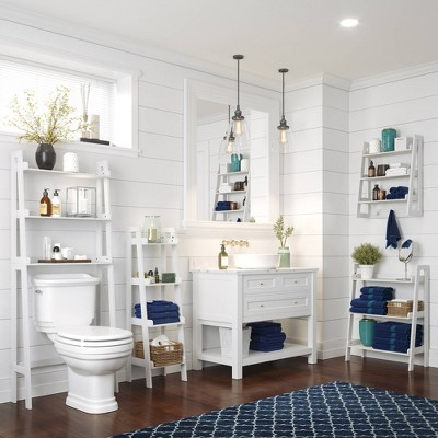 Over Toilet Space Saver With Tiered Ladder Shelves Riverridge Home Target
