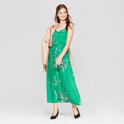 Women's Floral Print Sleeveless Maxi Dress - A New Day™ Green