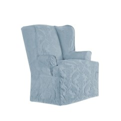 Sure Fit Wing Chair Slipcover White Dining Covers Matelasse Damask Target
