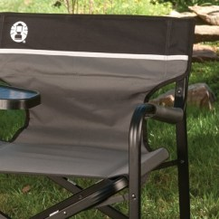Coleman Deck Chair With Table Stackable Office Chairs Wheels Aluminum Swivel Side Gray Target