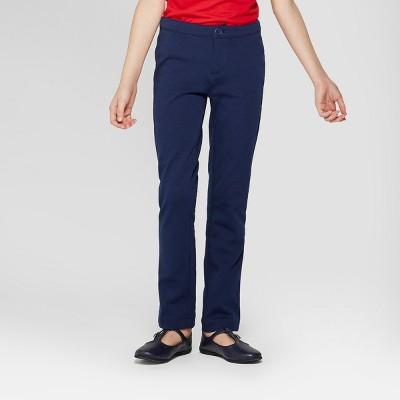 Girls' Skinny Ponte Uniform Trousers - Cat & Jack™
