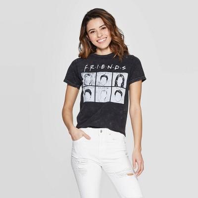 Women's Friends Short Sleeve Screen Graphic T-Shirt (Juniors') - Black
