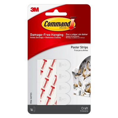 Command 16ct Craft Poster Strips