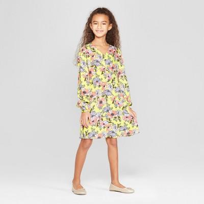 Girls' Woven Dress - art class™ Yellow