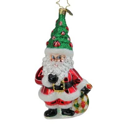 """Christoper Radko 6.75""""  Tannenbaum Topper Glass Christmas Tree Ornament #1019584"""
