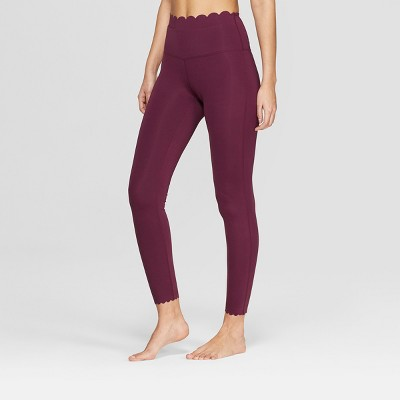 Women's Premium High-Waisted 7/8 Scallop Leggings - JoyLab™