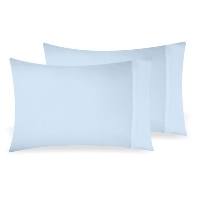 light blue 2pc standard pillowcases pillowcase 100 extra long staple 500 thread count sateen weave 2 piece set california design den