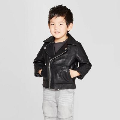 Toddler Boys' Moto Jacket - art class™ Black