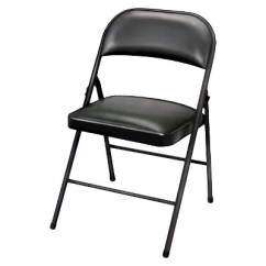 Black Padded Folding Chairs World Market Wicker Chair Cushions Vinyl Plastic Dev Group Target About This Item