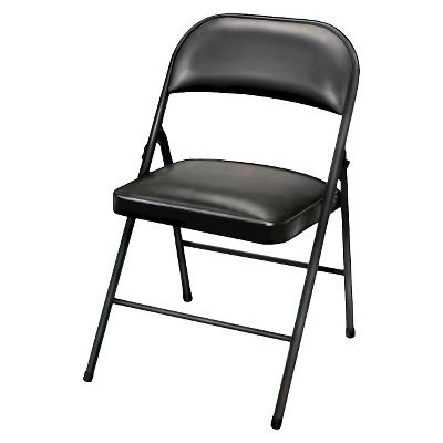 chair steel folding serena and lily double hanging vinyl padded black plastic dev group target about this item