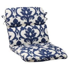 Target Chair Cushions Desk Home Bargains Outdoor Rounded Cushion Blue White Damask About This Item