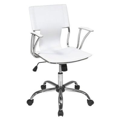 target white desk chair wheelchair transport services dorado office star