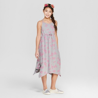 Girls' Butterfly Print Knit Maxi Dress - Cat & Jack™ Gray