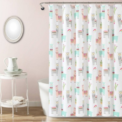 72 x72 make a wish southwest llama cactus shower curtain single white lush decor