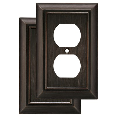 Architectural Single Duplex Wall Plate- Set of 2