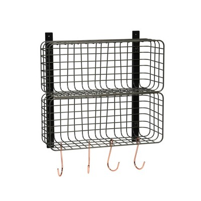 Entryway Double Stacked Wire Cubby Pewter - Threshold™