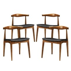 Dining Chairs Set Of 4 Target Stressless Office Chair Tracy Black Modway
