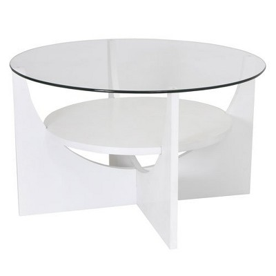 u shaped coffee table white lumisource