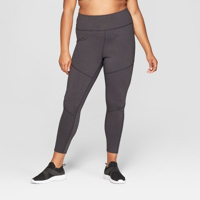 Women's Plus Size Performance High-Waisted 7/8 Mini Striped Leggings  - JoyLab™