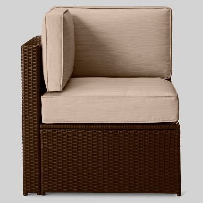 comfortable wicker chairs chair slipcovers ideas sedona all weather patio sectional corner project 62 target