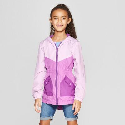 Girls' Pieced Windbreaker Jacket - Cat & Jack™ Purple