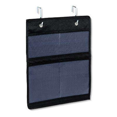 Over the Door Cabinet Hook Mesh Pocket Organizer Black - 88 Main