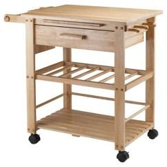 Wooden Kitchen Cart Black Slate Floor Tiles Finland Wood Natural Winsome Target