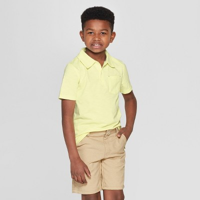 Boys' Short Sleeve Slub Knit Polo Shirt - Cat & Jack™
