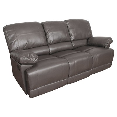 Bonded Leather Reclining Sofa - CorLiving