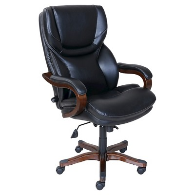 serta bonded leather executive chair purple side office in black target