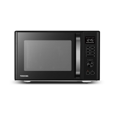 toshiba 1 0 cu ft multi function 6 in 1 microwave black stainless steel ml ac28s bk