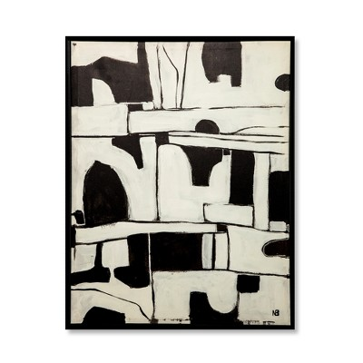 26 x20 abstract black